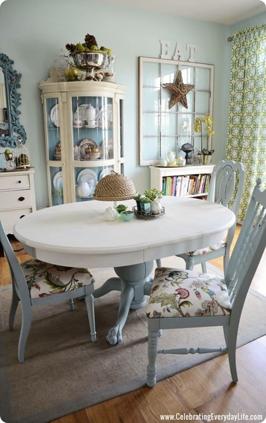 Blue And White Dining Room Table Knockoffdecor Com