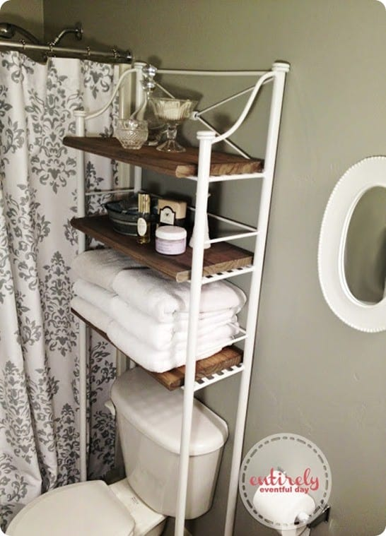 Metal And Wood Bathroom Shelf Knockoffdecor Com