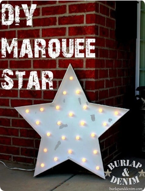diy marquee star made from foam core