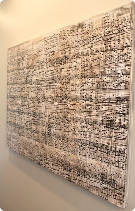 diy sheet music wall art