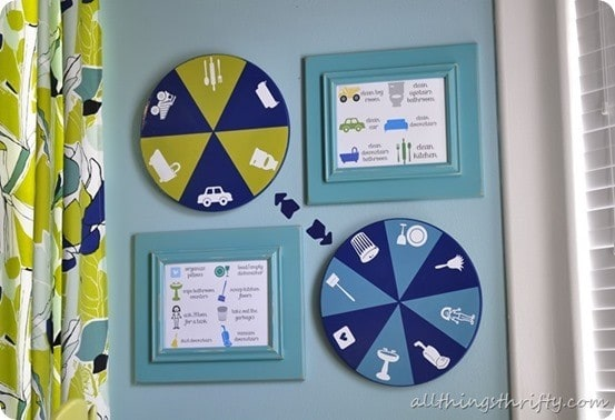 lazy susan chore chart for kids