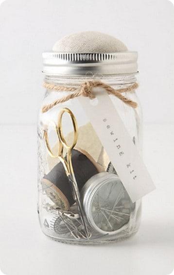 mason jar sewing kit from anthropologie