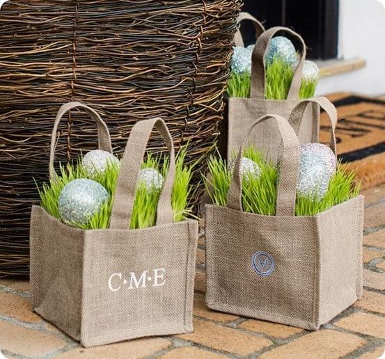outdoor burlap bag