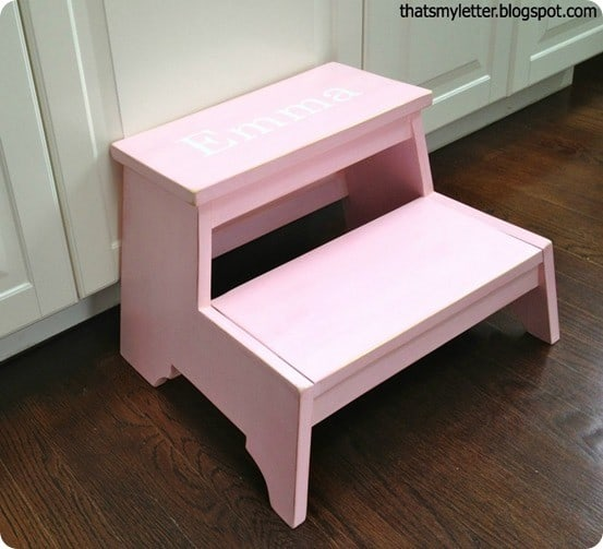 personalized pbk inspired step stool