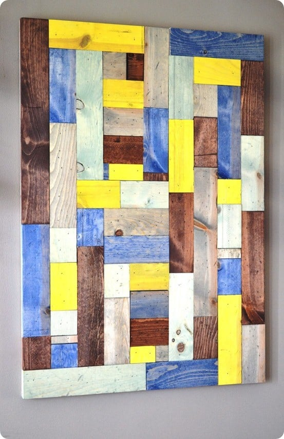 pieced wood artwork - PB knock off