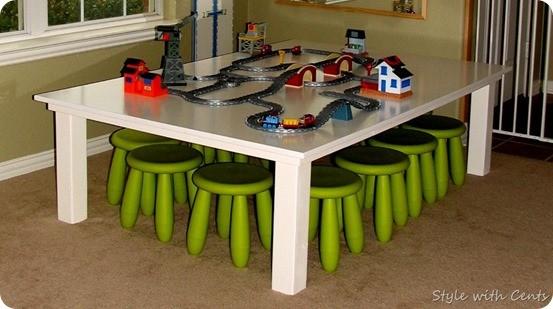 Pottery Barn Kids Knock Off Train Table For $40
