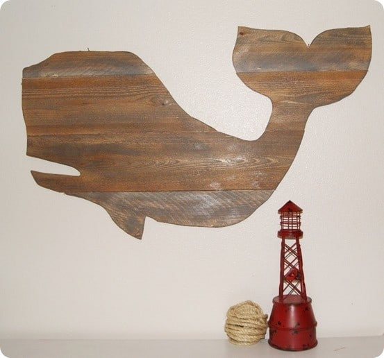 pottery barn kids inspired whale wall decor