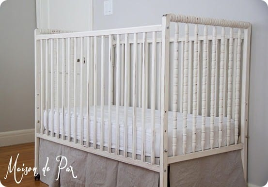 rh inspired crib and bed skirt