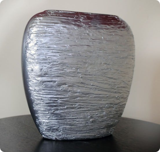 silver textured vase inspired by crate and barrel