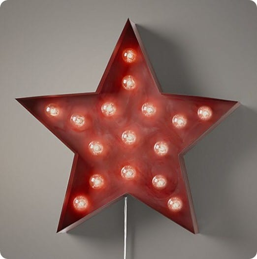 vintage illuminated star