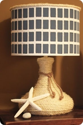west elm inspired rope lamp