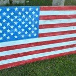 Wood American Flag Plaque