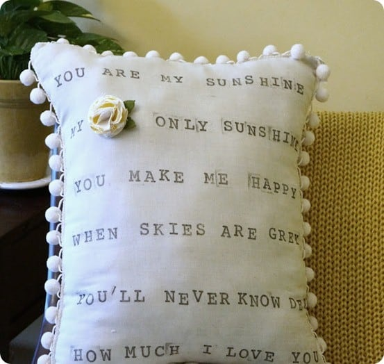 you are my sunshine pillow inspired by anthropologie