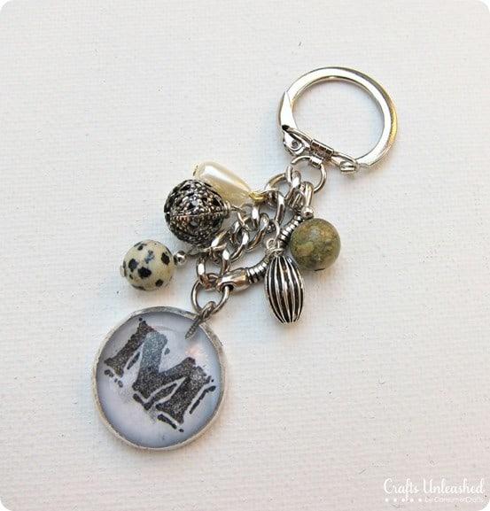 Monogram Charm Key Chain