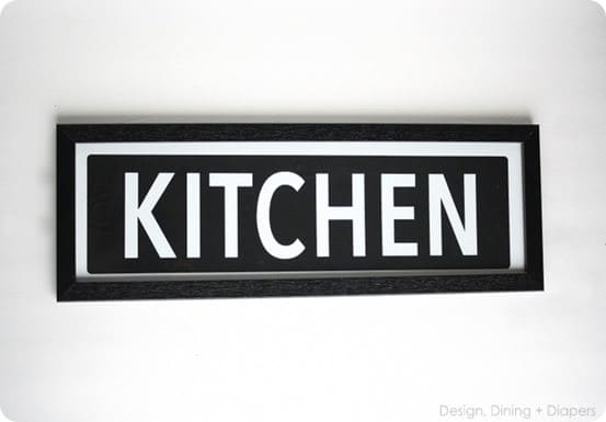 DIY Kitchen wall sign inspired by Pottery Barn