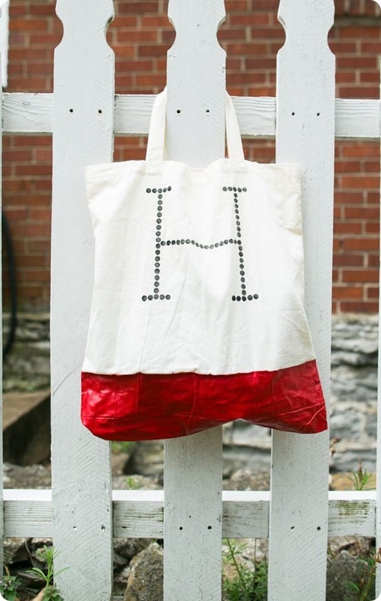 Initial Tote Bag With Rubber Bottom Knockoffdecor Com