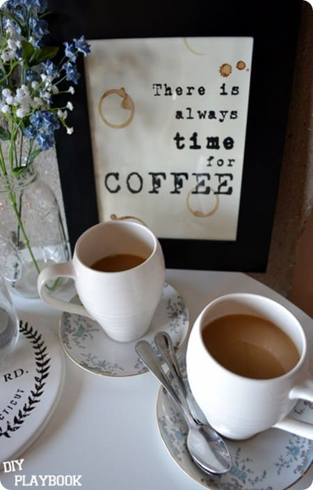 Free coffee art printable inspired by Z Gallerie
