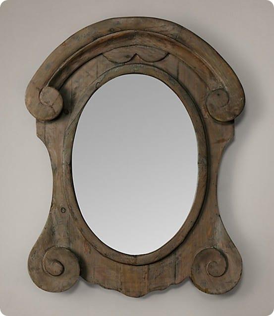 Mansard Scroll Mirror