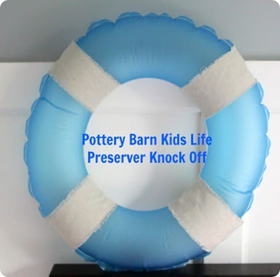 Pottery Barn Kids knock off life preserver