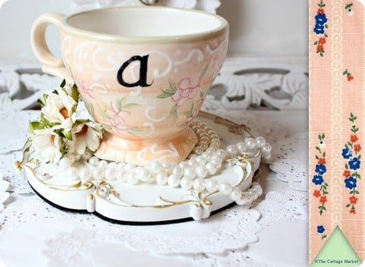 anthropologie inspired monogram mug