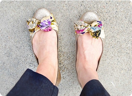anthropologie knock off scarf ballet flats