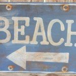 Welcome Summer with a Weathered Beach Sign
