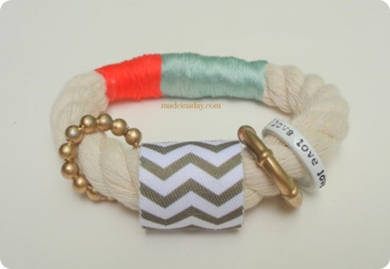 chevron rope bracelet inspired by anthropologie