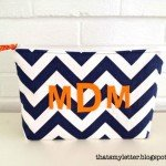 Monogram Zipper Pouch