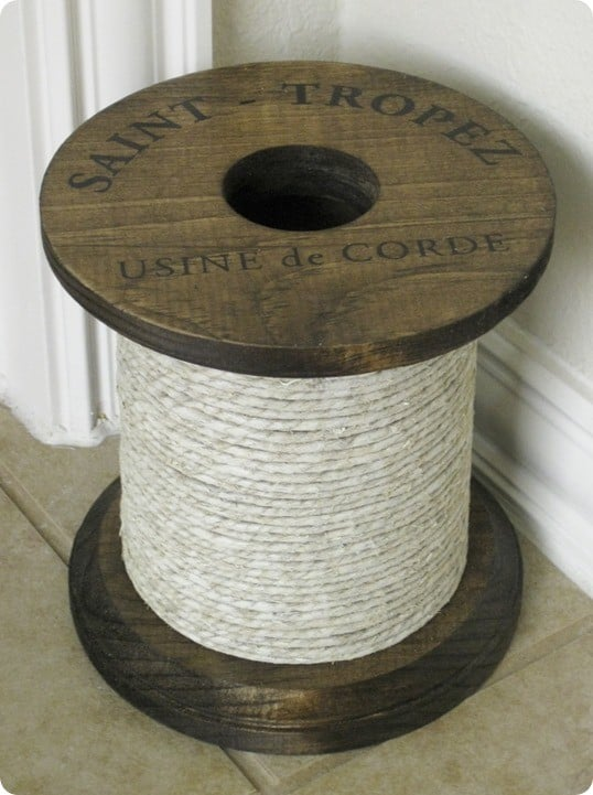 decorative rope spool