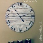 $10 Pottery Barn Inspired Wood Clock