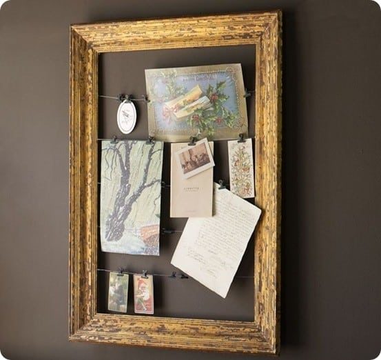gilt frame card holder