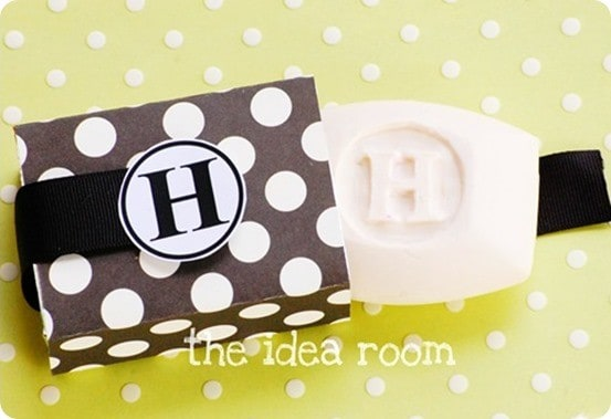 Hand Carved Monogram Soap