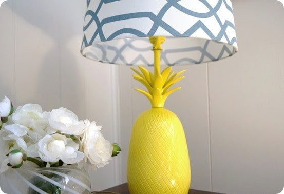 Bright Yellow Pineapple Table Lamp Knockoffdecor Com