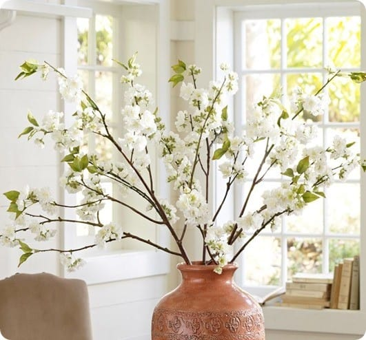 pottery barn cherry blossom branch