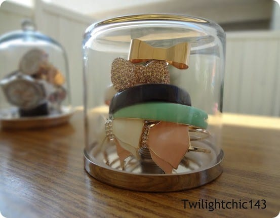 pottery barn inspired jewelry cloche