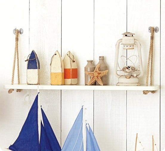 pottery barn swing shelf