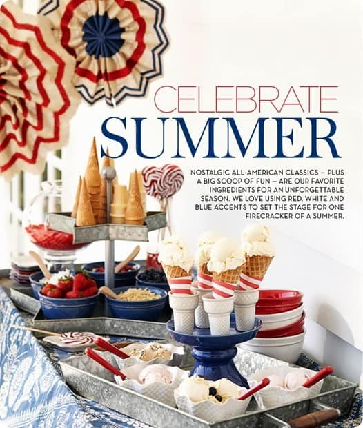 Pottery Barn Fourth of July tablescape