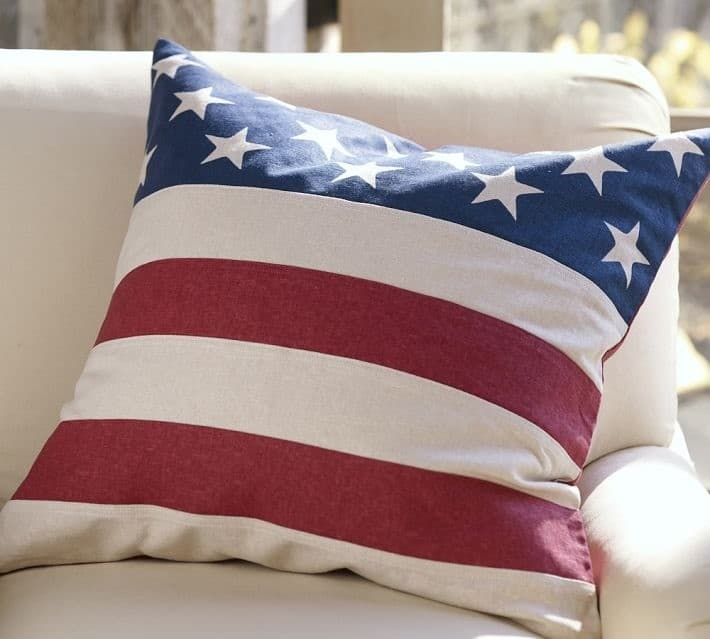 No Sew Fourth Of July Pillow Cover