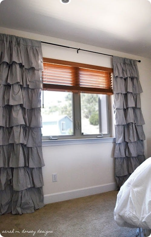 Turn Sheets Into Ruffled Curtains Knockoffdecor Com