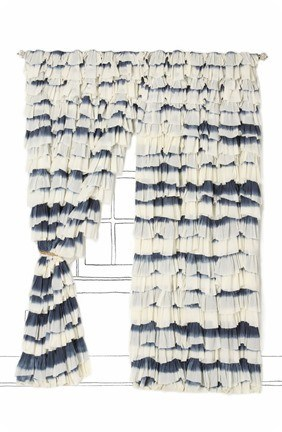 anthropologie ruffled curtains