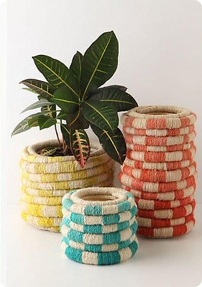 colorful coil pot