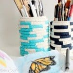 Colorfully Coiled Art Supply Cups