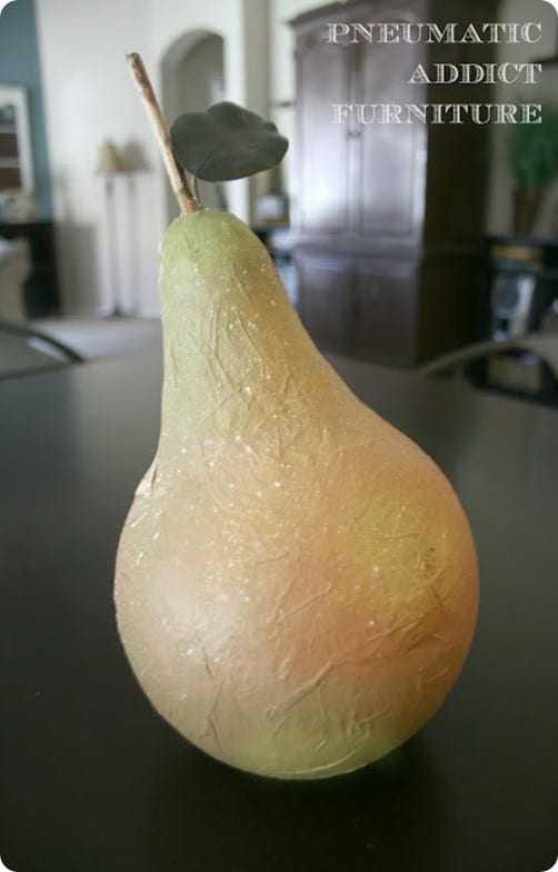 Decorative Pear That Looks Good Enough To Eat