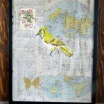 DIY Decoupage Bird Art