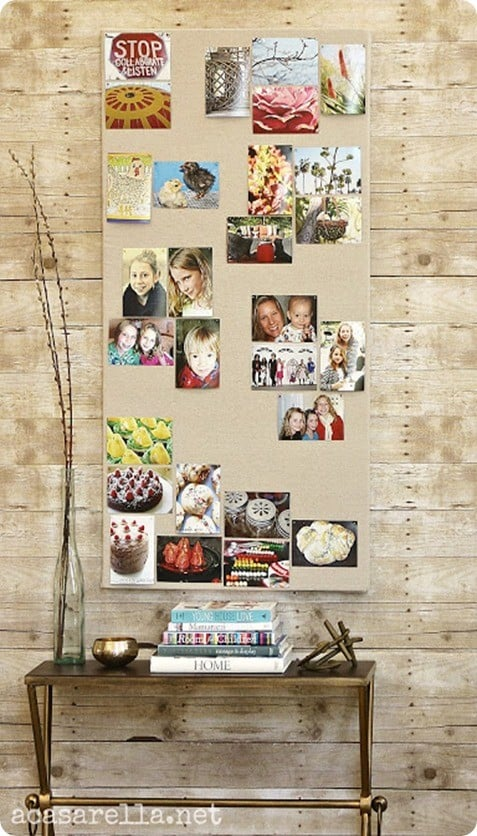 Display Your Photos On A Fabric Pinboard Knockoffdecor Com