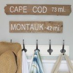 A Trio of Driftwood Coastal Signs