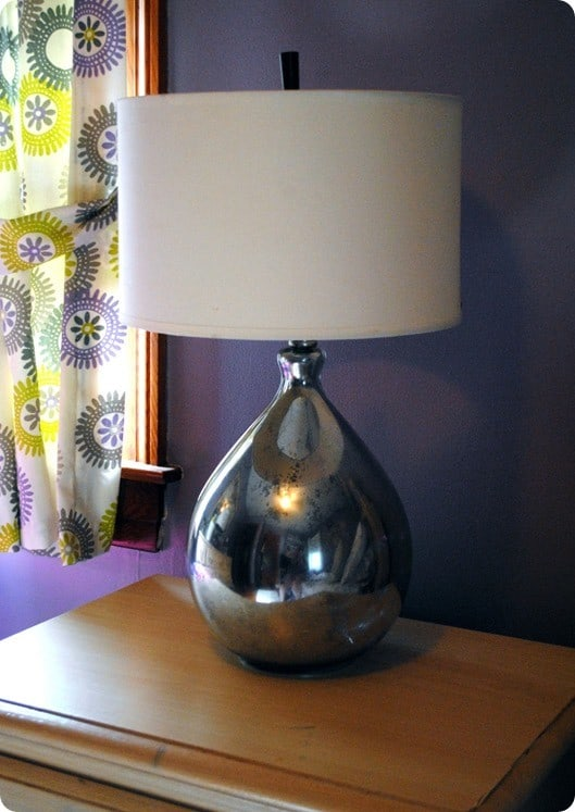 faux mercury glass lamp