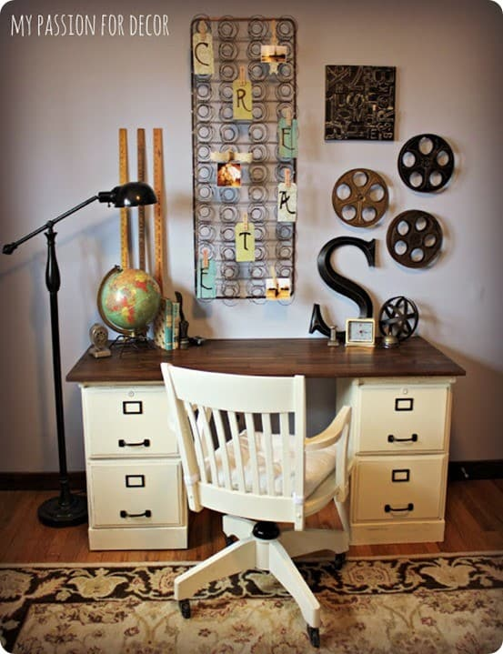 melody was inspired by the bedford desk from pottery barn