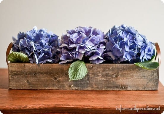 flower trough centerpiece