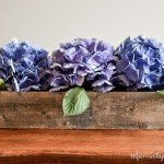 Tabletop Flower Trough Centerpiece
